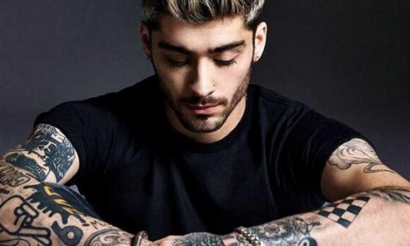 Así es el nuevo tatuaje de Zayn Malik que brilla en la oscuridad