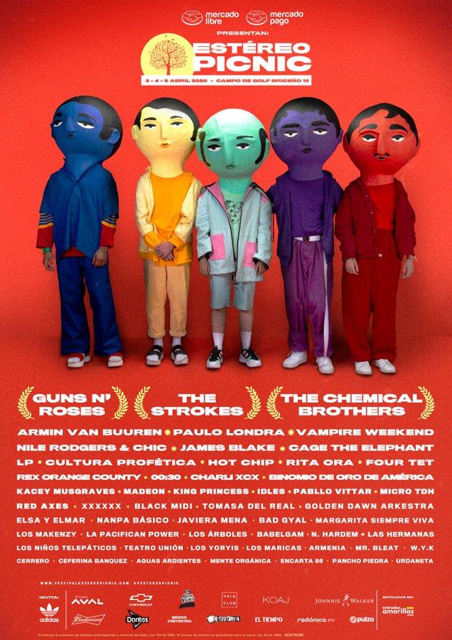 Line Up Festival Estéreo Picnic 2020