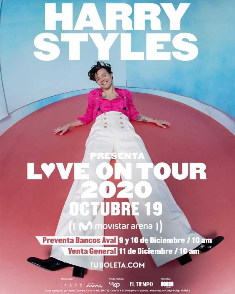 Harry Styles regresa a Colombia para su Love On Tour 2020