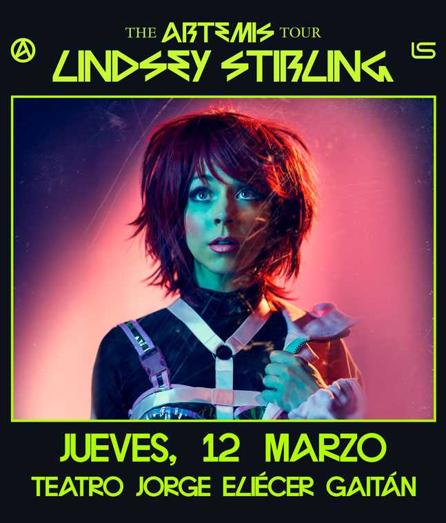 "Lindsey Stirling regresa a bogotá con su ""The Artemist Tour"" 2020"