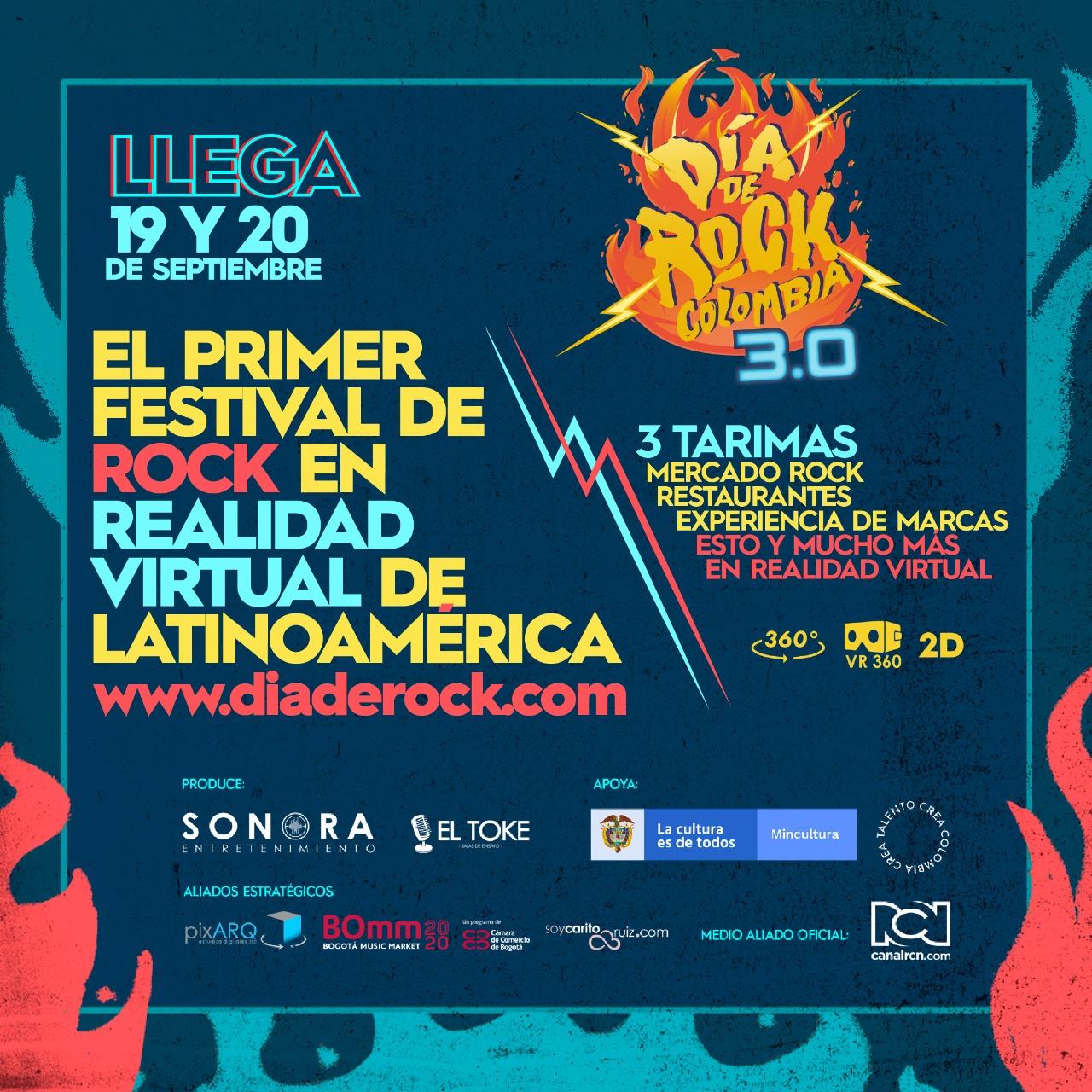 Día de Rock Colombia 3.0: El primer festival en realidad virtual de Latinoamérica