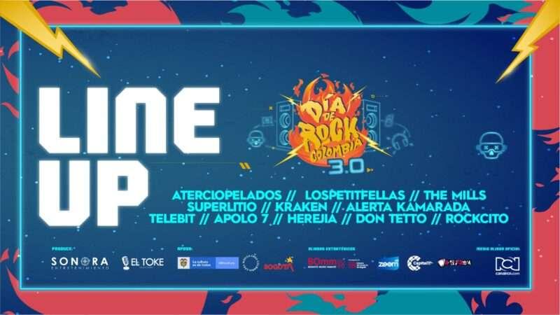 Este es el Line Up oficial de Día de Rock Colombia 3.0, el festival online