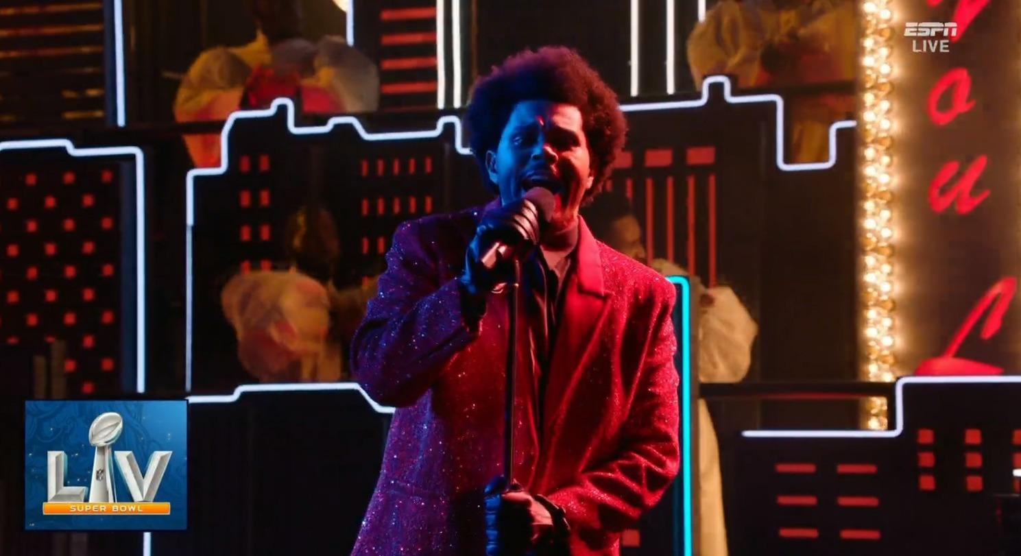 Así fue la presentación de The Weeknd en el Super Bowl Halftime Show