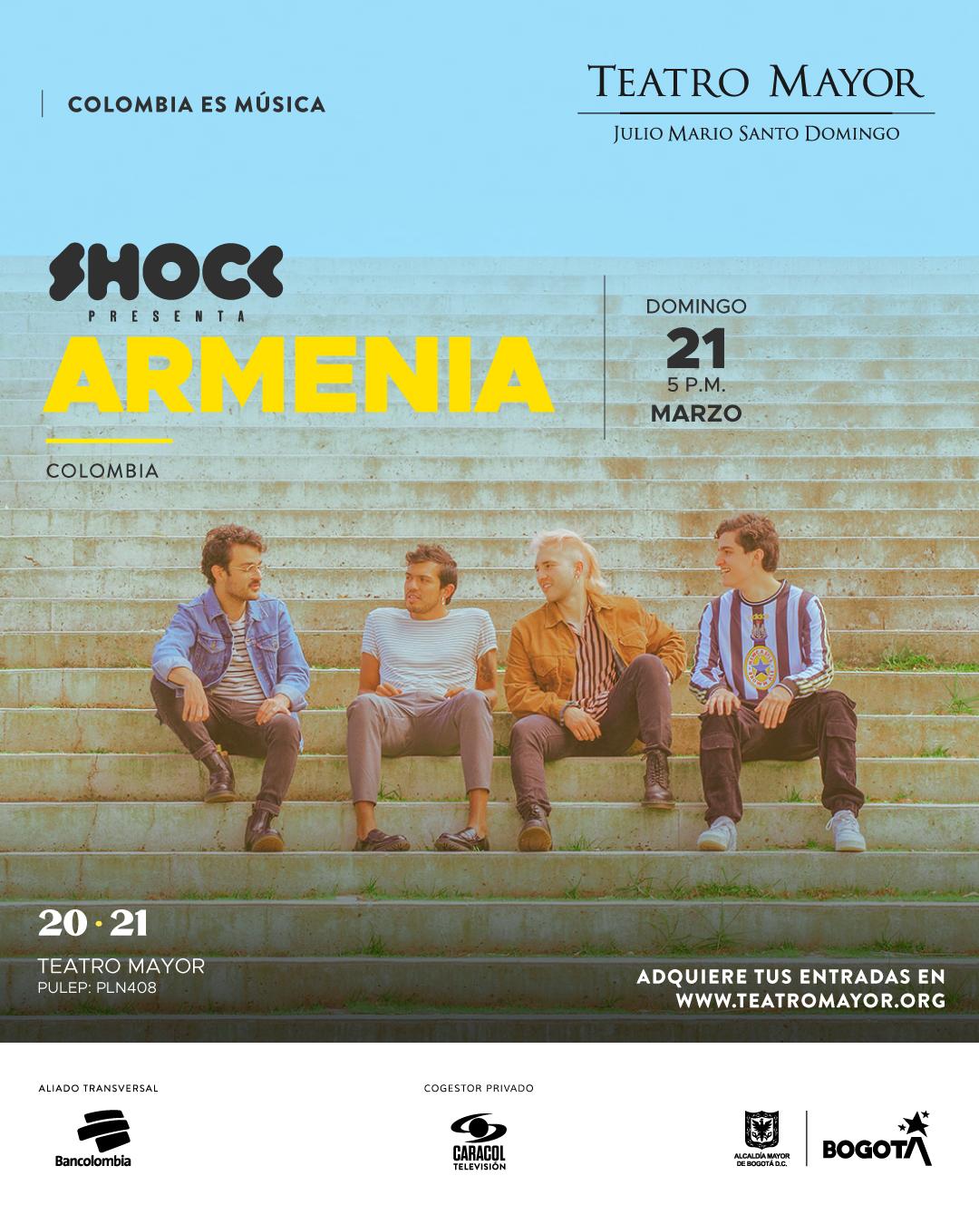 ARMENIA de concierto en vivo en el Teatro Mayor de Bogotá