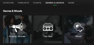 Spotify permitirá organizar canciones por mood y género